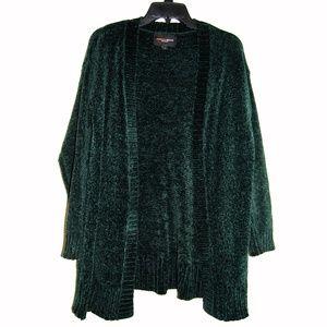 Ambiance Apparel Sweater – Green Knit Cardigan
